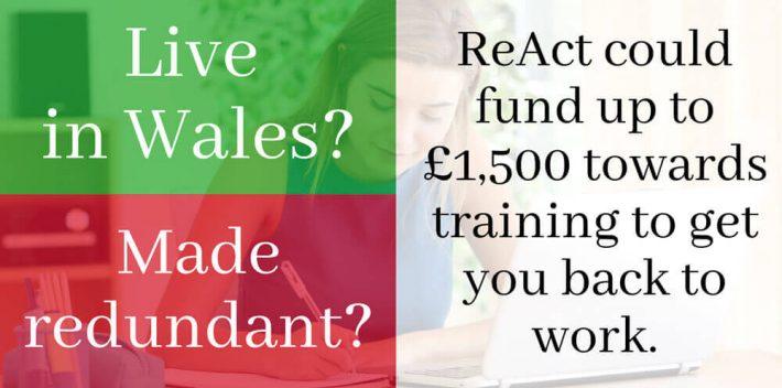 ReAct Redundancy funding of £1500